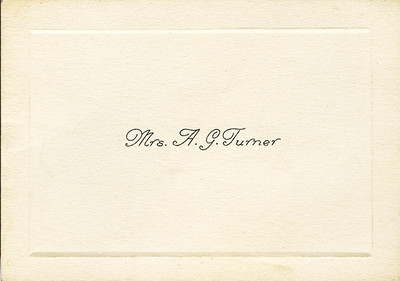 Stella Turner's calling card