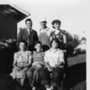 First row: Colleyn Thompson, Unknown, and Carolyn. Back row: Jake, Russell Thompson, and Bev