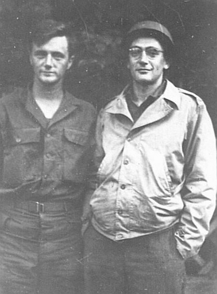 Dad with older brother Dave, France, 1944.
