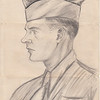 Pencil sketch of Dad done at Fort Bragg, 1943.