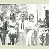Unknown people with Mom and Dad (at far right).  Looks to have been taken in Yonkers, just before Dad went overseas, in the summer or early fall of 1944.