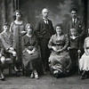 Marshall family, Scotland, about 1920.  John, Willie, Liz, Grandma (Annie Stewart Marshall), John (my great grandfather), my great grandmother, Hugh (standing) Stewart, unsure of last person seated.