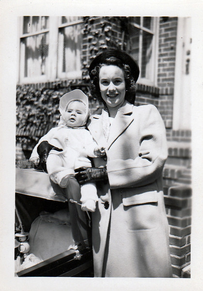 Emily with Susan Emily Jones, Easter Sunday, 4/17/49.