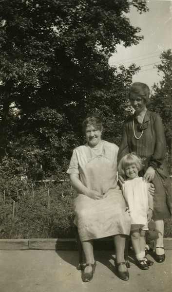 My great-grandmother with Mom and my grandmother, around 1930.