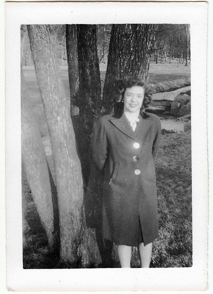 My mother, 1940s.