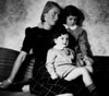 Elisa Nathan in Spring 1940, with daughters Vicky going on four and Lili going on two.