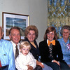 Pop, Uncle Red, Alex Hamilton, Aunt Barbara, Cathy Hamilton, Grandma and Susan Hamilton, 1971.