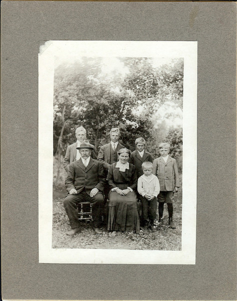 Art, Henry, John, Alex<br /> John, Sr, Katherine, Rudolph Kolka<br /> Photo taken in Canada