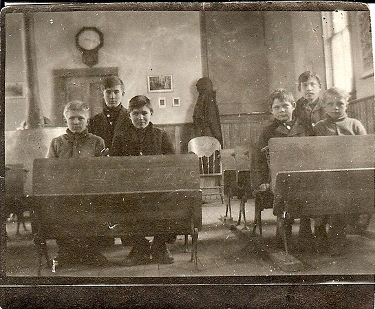 School in Stettler Alberta Canada, 1914<br /> Root Boys and Alex on Left<br /> John Kolka Lower Right Front