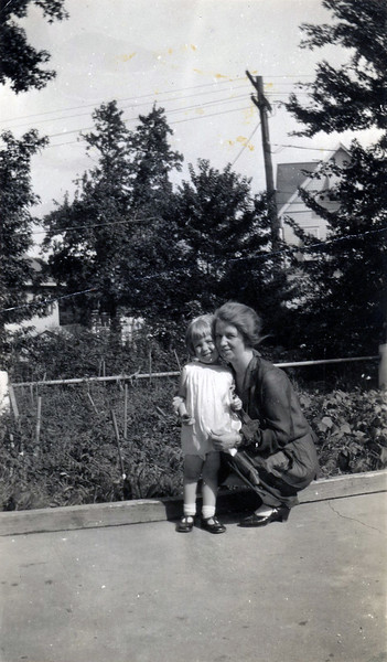 Mom with my grandmother, around 1927.