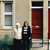 Mom and Leslie, at 11 Barnes Street, Clydebank, June 2000.