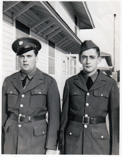 Unknown with my uncle David Jones, around 1941.