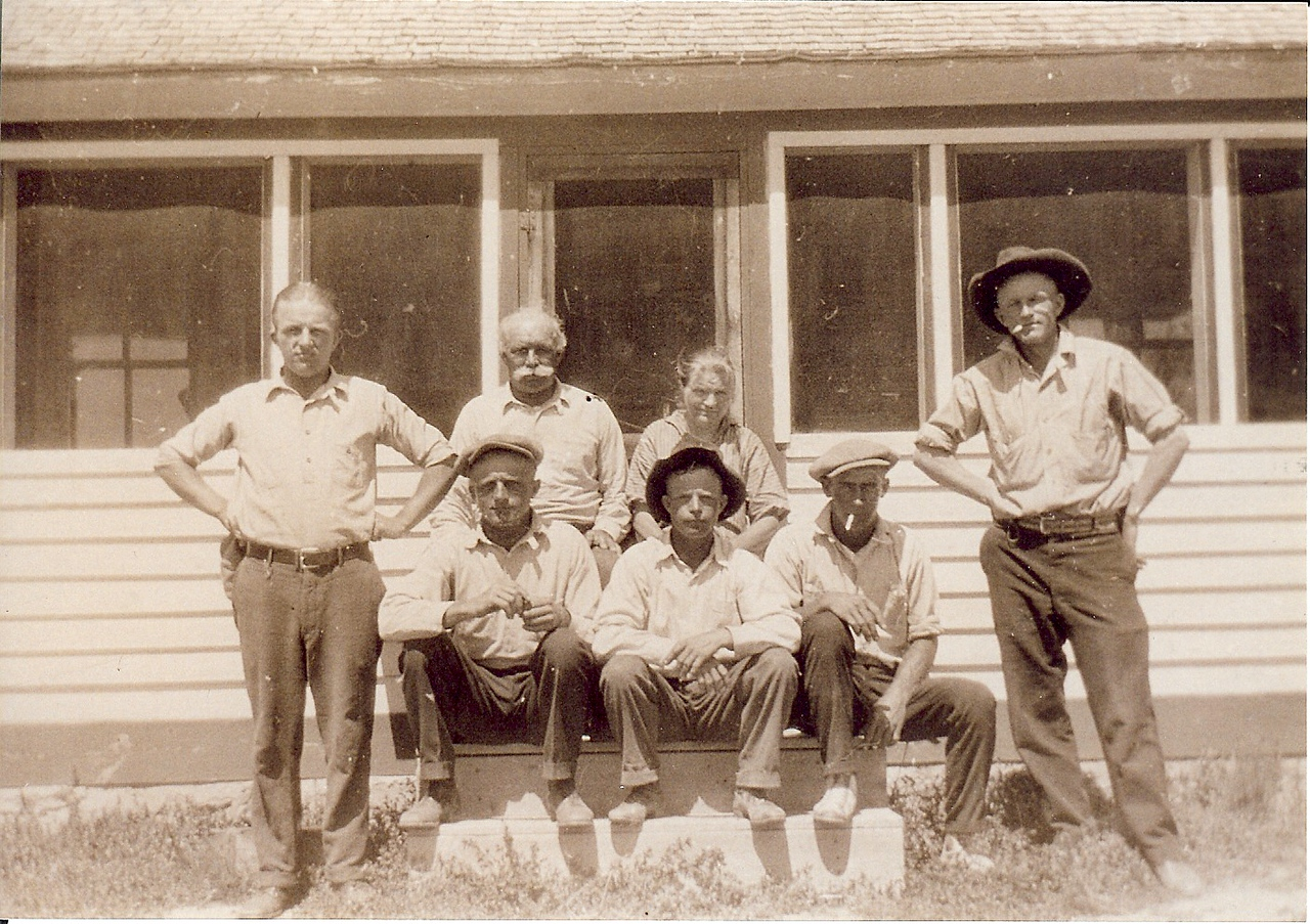Grandpa (John) Kolka, Katherine Kolka<br /> Rudolph, Alex, Henry, Arvid Gustofson, John
