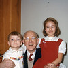 Me, my grandfather and cousin Susan Jones, 1955.