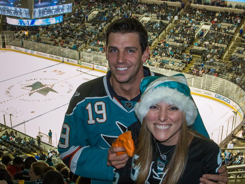 Jacob and Sarah at the Sharks game