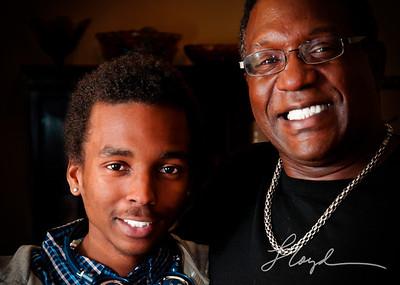 Son Carlos with dad Sydney