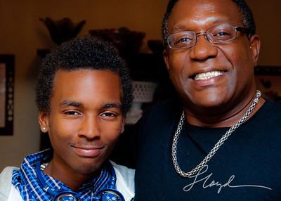 Proud dad Sydney with son Carlos