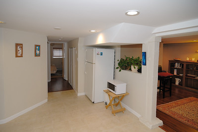 Basement suite from kitchen - west