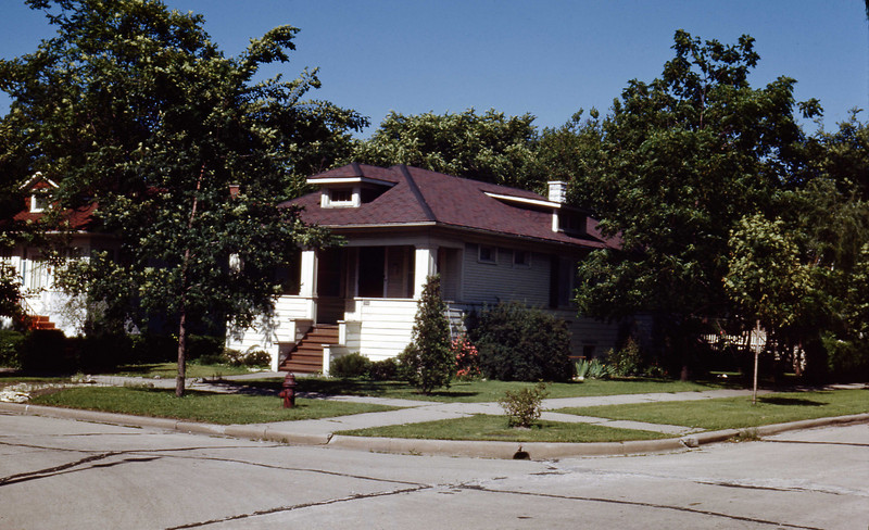 Grandma & Grandpa Ulrich's home - July 1948<br /> NE corner of 4th and Fillmore, Maywood, Illinois