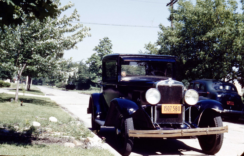 Jim's 1928 Chevy - August 1948<br /> Maywood, Illinois