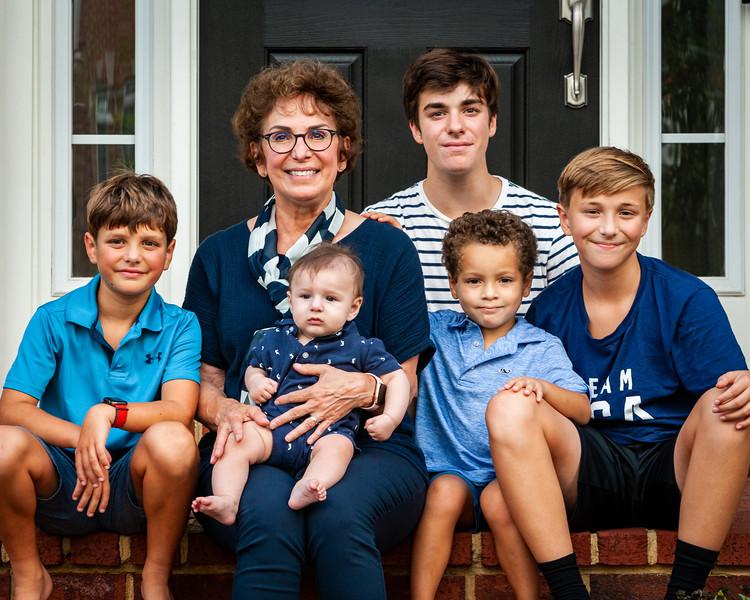 Angelas side (mother, nephews and Bridger) Aug 2021, Digital.