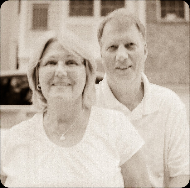 Mom and Dad. July 2014. Yashica TLR, Tri-X, medium format.M