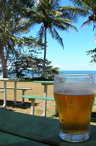 Beers on Kurrimine Beach