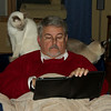 Jim and the cats are both very happy with his iPad purchase.