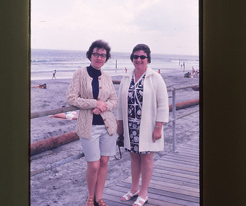 Phyllis and Janet Seguin--Ocean City--1970