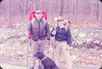At start of Appalachian Trail Hiking Trip--1969