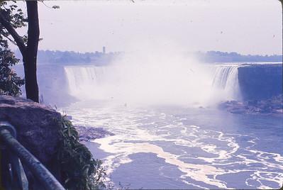 Start of Harvey and Jim's Canadian Canoe Trip--1970--Niagara Falls