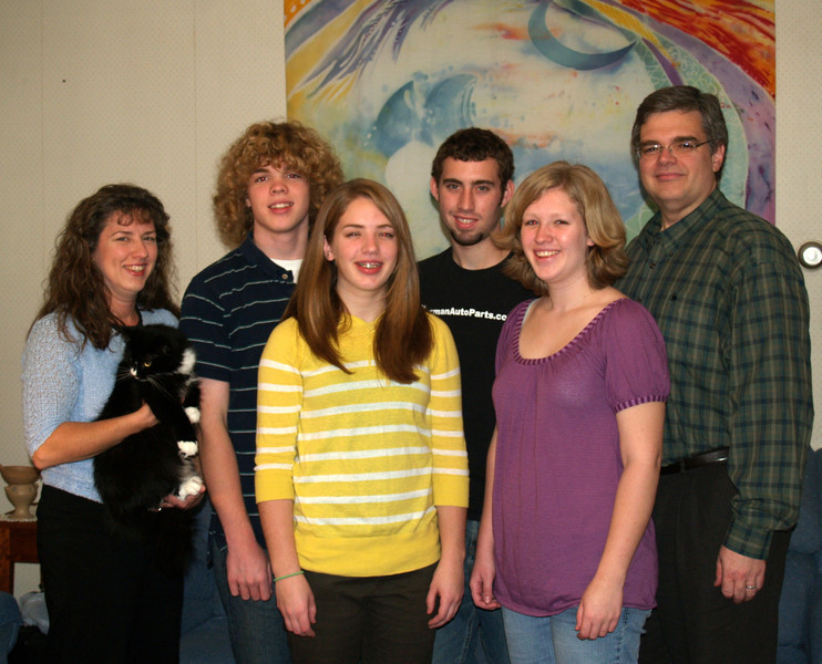 Our family & Bryan at Thanksgiving