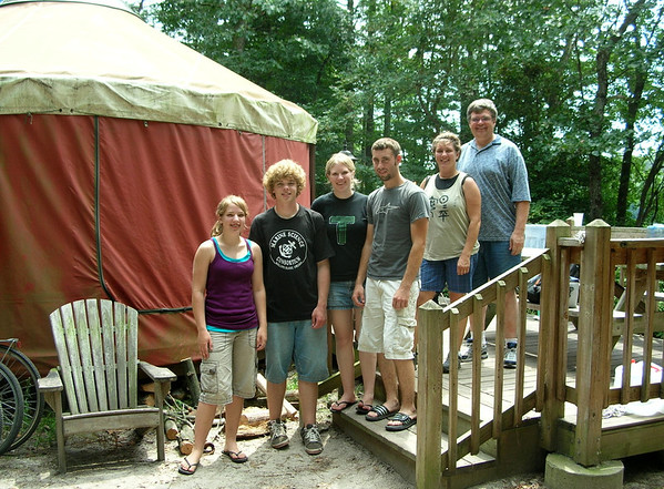 Our family in front of our yurt -- photo by Chris Wilde