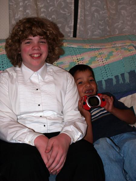 Seth & cousin Christian after choir concert 2007 - 1