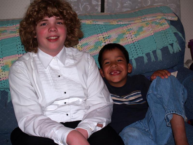 Seth & cousin Christian Blanco after choir concert - 4