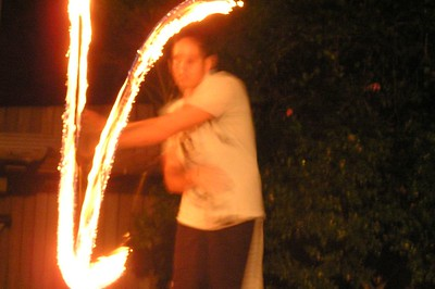 Trent fire twirling