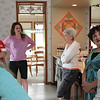 The kitchen is often a gathering place (L-R) Laura Ann, Mike Sweitzer-Beckman, Molly C. Russell, Sarah Sweitzer, Beth Sweitzer-Riley and Rebecca Haynes Bordas