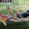 Quality hammock time - the Panda Brothers aka the Sweitzers from Muncie lay back and catch the summer breeze.