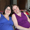 Expectant Moms JoAnn and Erica share a smile with more on the way.
