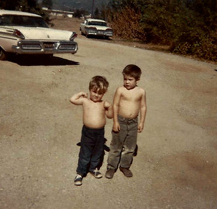 Ronnie and David in Beaumont circa 1962.