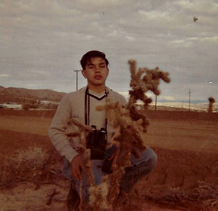 Sam in Joshua Tree in 1961.