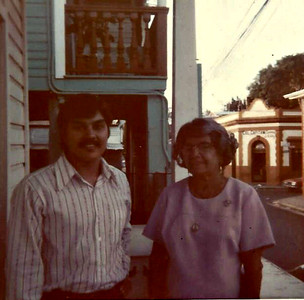 Sam and Dona Clementina in Ponce, PR in 1973.