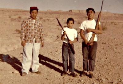 Shooting at Joshua Tree circa 1961.