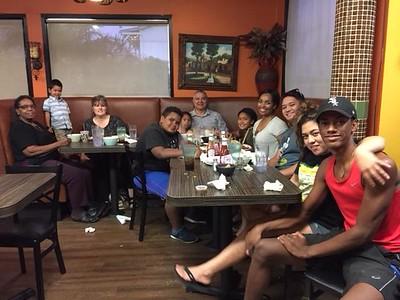 Family at Taco Joe's on October 7, 2017