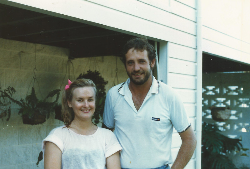 Jane & Michael, Rowes Bay, Townsville, ~1984.