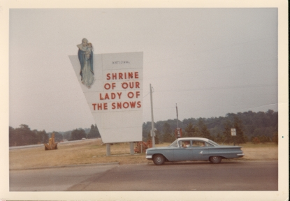 Frank Ranch, Ann Ranch, Jerome Ranch at shrine in 1960 Chevy