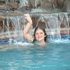 Brianna enjoying the pool at Lori's  :)