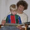 Grandma Vicky reads to Denali