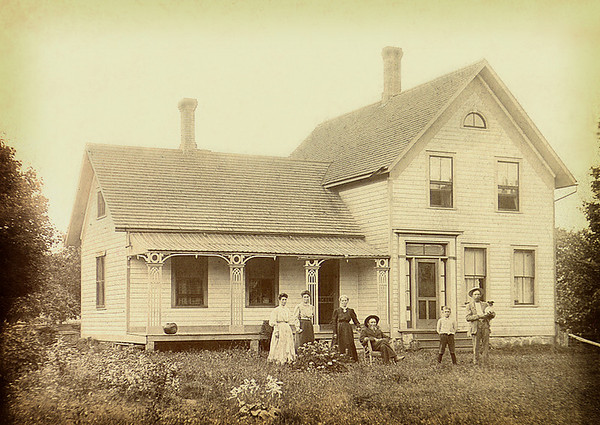 "The ""Farrm"" 1870. Locted on M25 between Pt. Sanilac and Lexington, MI."