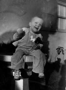 Susie as a happy kid.  I think this must have been 1946 instead of 1945